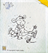 Nellie Snellen - Koetie Clear Stamp - Koetie Skating - COW-008